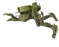 Camouflage mech op een witte achtergrond vector illustratie