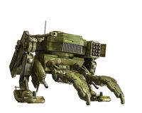 Camouflage mech in a white background. Will put some fun in yours creations, 3d illustration stock illustration