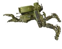 Camouflage mech in a white background. Will put some fun in yours creations, 3d illustration vector illustration