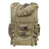 Camouflage, militair lichaamspantser, ledenpop Stock Fotografie