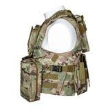 Camouflage, militair lichaamspantser, ledenpop Stock Afbeeldingen