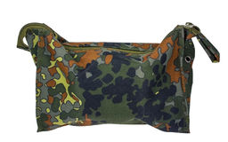 Camouflage military bag Stock Images