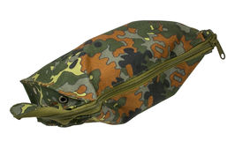 Camouflage military bag Stock Photos