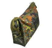 Camouflage military bag Royalty Free Stock Photography