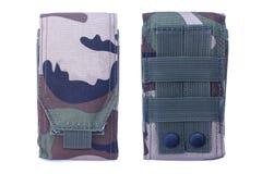 Camouflage Military bag tool Stock Photos
