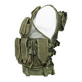 Camouflage, military body armor, mannequin Royalty Free Stock Photo