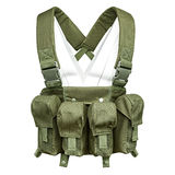 Camouflage, military body armor, mannequin Stock Image