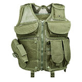 Camouflage, military body armor, mannequin. Isolated on white background royalty free stock photography