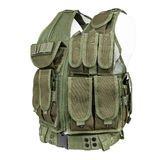Camouflage, military body armor, mannequin Stock Images