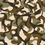 Camouflage, military camo vector seamless pattern Royalty Free Stock Images