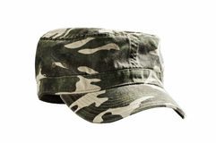 Camouflage military cap Royalty Free Stock Photos