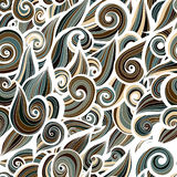 Camouflage military curlypattern background royalty free illustration