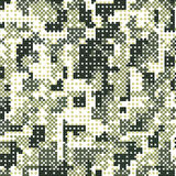 Camouflage military halftone pattern background. Vector illustration, EPS Royalty Free Stock Photos