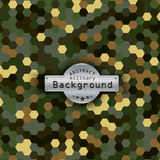 Camouflage military hexagon pattern background Stock Images