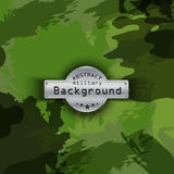Camouflage military pattern background. Vector Stock Photos