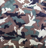 Camouflage military pattern. Closeup fabric of camouflage military pattern background Stock Photo