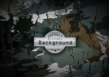 Camouflage military pattern with cracks background Stock Image