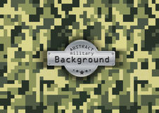 Camouflage military pattern with stars background Stock Images