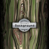 Camouflage military pattern  with wood background Stock Photos
