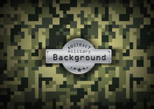 Camouflage military pixel art pattern background Stock Image