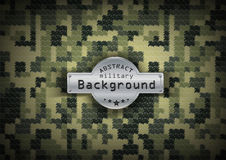 Camouflage military pixel art pattern background Royalty Free Stock Photography