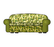 Camouflage military sofa. Army Soldier couch . Illustrat Royalty Free Stock Images