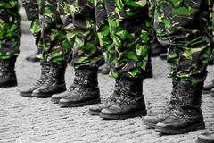 Camouflage military uniform Stock Image