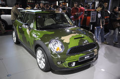 Camouflage MINI. In its exhibition hall,in 2010 international Auto-show GuangZhou. it is from 20/12/2010 to 27/12/2010. photo taken on 25 Dec. 2010 Stock Photo