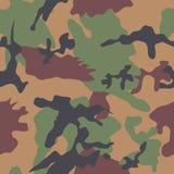 Camouflage Naadloos Patroon Stock Afbeeldingen