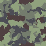 Camouflage Naadloos Patroon Stock Afbeelding