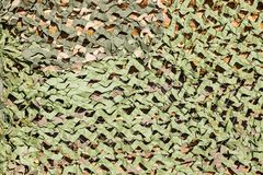 Camouflage net for masking of green color Royalty Free Stock Photos