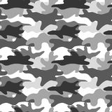 Camouflage noir et blanc Camo de masquage Copie classique d'habillement Dirigez la configuration sans joint illustration de vecteur