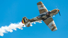 Camouflage painted airplane at air show Royalty Free Stock Images