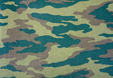 Camouflage pattern. With rough realistic fabric texture Stock Image