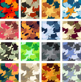 Camouflage pattern. Abstract camouflage vector seamless pattern pack Stock Photos