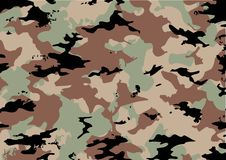 Camouflage pattern. In green, brown and black Stock Image
