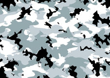Camouflage pattern. In gray, black, and white colors Stock Image