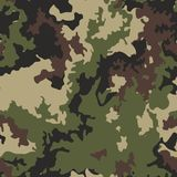 Texture military camo repeats seamless army green hunting. Camouflage pattern background. Classic clothing style masking camo repeat print. Green brown black royalty free illustration