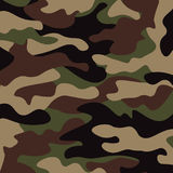 Camouflage pattern background. Classic clothing style masking camo repeat print.  Royalty Free Stock Photography