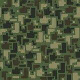 Camouflage pattern background. Classic clothing style masking camo repeat print.  Seamless vector illustration. Camouflage pattern background seamless vector Royalty Free Stock Photo