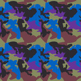 Camouflage pattern background seamless clothing print, repeatabl Stock Photography