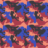 Camouflage pattern background seamless clothing print, repeatabl Stock Photo