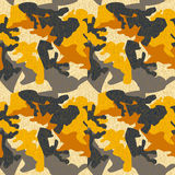 Camouflage pattern background seamless clothing print, repeatabl Stock Photos