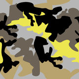 Camouflage pattern background seamless clothing print, repeatabl Royalty Free Stock Images