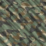 Camouflage pattern background seamless illustration. Classic clothing style masking camo repeat print. Green brown black. Olive colors forest texture stock image