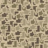 Camouflage pattern background, seamless vector illustration. Beige, brown, ocher colors desert texture. Royalty Free Illustration