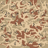 Camouflage pattern background seamless vector illustration. Classic clothing style masking camo repeat print. Beige, brown, ocher Stock Photos