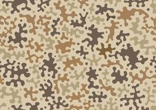 Camouflage pattern background, seamless vector illustration. Classic military clothing style. Masking camo repeat print. Beige, br. Camouflage pattern background vector illustration