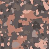 Camouflage pattern background, seamless vector illustration. Classic military clothing style. Masking camo repeat print. Beige, brown, ocher colors desert royalty free illustration
