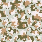 Camouflage pattern background, seamless vector texture. Classic military clothing style. Masking camo repeat print royalty free illustration